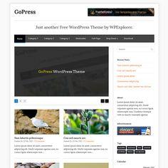 GoPress WordPress Theme  FREE DOWNLOAD  http://www.wpexplorer.com/gopress-wordpress-theme  http://wpexplorer.me/demo.php?theme=gopress  Demo
