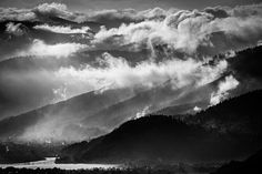 Clouds over the mountains are falling like waves Waves, Clouds, Explore, Mountains, Outdoor, Sun, Outdoors, Ocean Waves, Outdoor Games