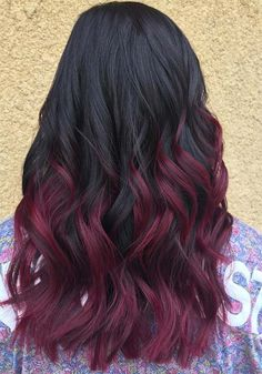 Burgundy Hair Color: Best Ideas of Maroon Hair (Trending in August hair color ideas for black hair - Hair Color Ideas Maroon Hair Colors, Hair Color Auburn, Ombre Hair Color, Blonde Color, Color Red, Burgundy Hair Colors, Maroon Color, Auburn Hair, Black Hair With Highlights