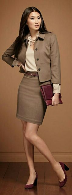 Business Fashion Ladies – Keep up with the latest trends Business outfit Business Outfits, Office Outfits, Business Fashion, Business Attire, Office Wardrobe, Office Attire, Office Wear, Capsule Wardrobe, Office Fashion