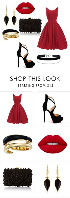 """ball"" by anjola112 on Polyvore featuring Christian Louboutin, Michael Kors, Lime Crime, Elie Saab, Isabel Marant and Miss Selfridge"
