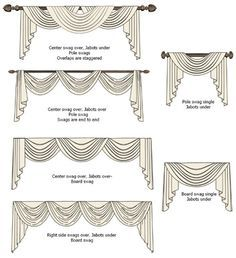 swag and jabot curtains - Google Search                                                                                                                                                                                 More