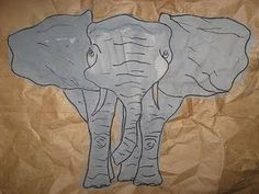 Paper Bag African Elephants--create for visual and tactile texture lesson!