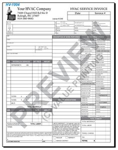 Pin By Small Business Promotions On HVAC Invoices Pinterest - Work order invoice template free