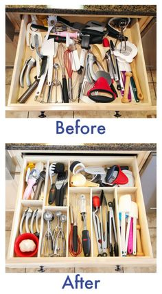 THE TRICK is to carefully assort the items to be stored, then make the compartments to just fit (with a little ease. This will be a delight every time you use it!!! )6 Clever DIY Drawer Dividers
