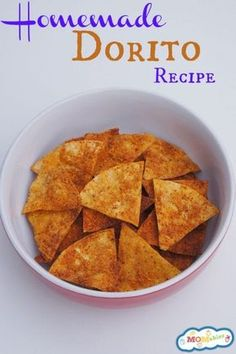 This Homemade Dorito Recipe will give you the nacho cheese chip your kids love without all of the processed ingredients!