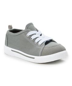 Another great find on #zulily! Gray & White Stripe Sneaker by Shoe Shox #zulilyfinds