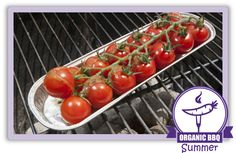 The cocktail vine tomatoes from organic hero Frank are perfect for the BBQ. Simply sprinkle with oil and some herbs. Wrap in foil to keep the moisture from evaporating and place on the barbecue for a few minutes.  Enjoy ! Visit the grower, enter code 166 on natureandmore.com #organic #bbq #recipe