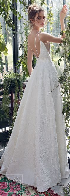 XO by Limor Rosen 2019 Wedding Dresses - Autumn simple ball gown wedding dress | Brocade fabric with flower embroidery princess bridal gown. Deep V neck line detailed with a crisscross element and back straps rustic wedding gown #weddingdress #weddingdresses #bridalgown #bridal #bridalgowns #weddinggown #bridetobe #weddings #bride #weddinginspiration #dreamdress #fashionista #weddingideas #bridalcollection #bridaldress #fashion #bellethemagazine #ido #dress