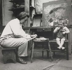 Joan Eardley: the forgotten artist who captured Scotland's life and soul. Photograph by Audrey Walker: Collection Scottish National Gallery of Modern Art Popular Artists, Famous Artists, Gallery Of Modern Art, Glasgow School Of Art, Soul Art, Art Studios, Artist At Work, Scotland, Photos