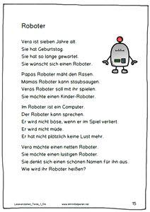 Neue Lesetexte für die 1. bis 6. Klasse | Deutsch lernen | Pinterest ...