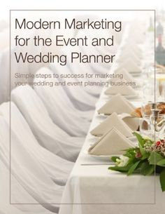 Modern Marketing for the Event and Wedding Planner - Simple steps to success for marketing your wedding and event planning business by Jeff Kear. $9.13. Publisher: My Wedding Workbook LLC (April 22, 2011). 137 pages
