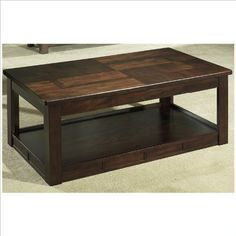 Somerton Serenity Lift Top Rectanglular Coffee Table in Brown by Somerton. $383.46. Cocktail Table Features A Lift Top That Allows For Storage, As Well As A Shelf Below. Dry/damp cloth only on furniture, no oil based cleaners. Product Weight 112.46 lb.. Burgundy Finish. Spot clean upholstery. A dignified contemporary silhouette is exhibited by the Somerton Serenity Square Cocktail Table with its rich brown finish and sturdy construction. The hardwood composition and professiona...