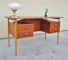 Danish Teak Desk - Tibergaard Teak Desk by 15degrees on Etsy