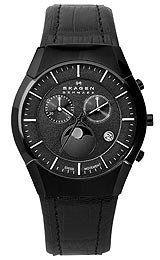 Skagen 901XLBLB Casual Watches, Watches For Men, Skagen, Halloween Sale, Moon Phases, Chronograph, Men's Shoes, Clock, Quartz