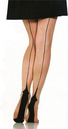 Plus Size Natural Cuban Heel Fashion Hosiery by Foot Traffic $9.95