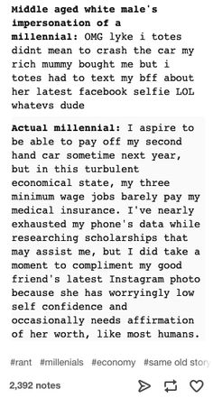 26 Tumblr Posts About Millennials That Are Funny But Also Fucking Grim