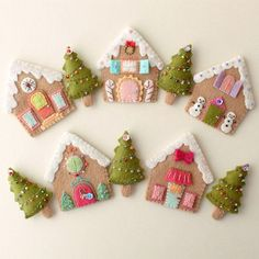 ** This is an Instant Download pdf Pattern that you can instantly download and print yourself immediately after purchase ** If you love gingerbread houses, this charming pattern was created specially for you! Pattern includes instructions and pattern pieces to make five unique and quirky