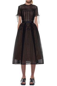 Self Portrait Aurelia Midi Dress In Black Price: $390.00