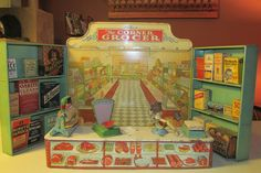 Vintage Wolverine Tin Toy Grocery Store