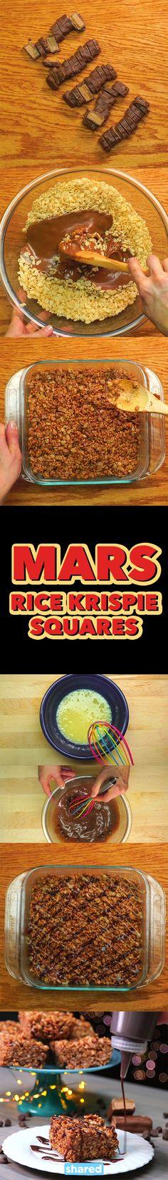 Mars Rice Krispie Squares