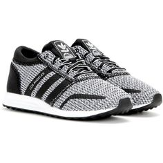 Adidas Los Angeles Sneakers ($110) ❤ liked on Polyvore featuring shoes, sneakers, black, black shoes, adidas footwear, adidas sneakers, adidas trainers and adidas