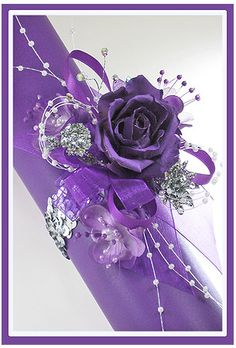 Purple Corsage... If I had a date I'd get something like this...