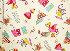 Alice in Wonderland Fabric is fabric of the week!