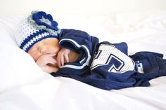 Dallas Cowboys, New York Yankees Crochet Baby Girl Hat Beanie with flower (custom team colors) photo prop beanie navy, white, silver
