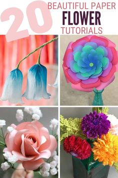 Grab your girlfriends and learn How to Make Paper Flowers with these 20 Easy Step by Step Tutorials. Click here now for all the info!! #thecraftyblogstalker #paperflowerweddingdecoration #paperflower #paperflowers #paperflowertutorial #papercrafts Handmade Flowers, Diy Flowers, Different Types Of Flowers, How To Make Paper Flowers, Paper Flower Tutorial, Easy Diy Crafts, Craft Tutorials, Make Your Own, Wedding Decorations