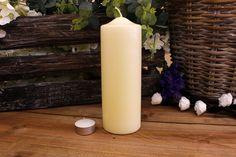 Κεριά Κυλινδρικά Εκρού Φ7x20εκ Pillar Candles, Taper Candles