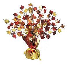 Fall Leaves Gleam N'Burst Centerpiece