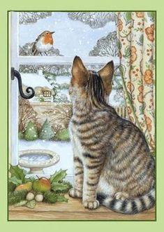 Cat sees a bird - Debbie Cook