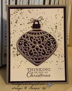 Windy's Wonderful Creations, Stampin' up!, Embellished Ornaments, Delicate Ornaments thinlits dies