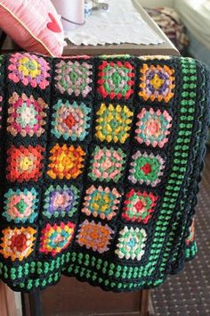Learn how to crochet Granny Squares--My grandmother used to make these.  :)  Don't know that I'll attempt any time soon, but maybe someday...