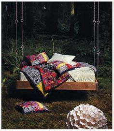 I want this on my porch ~ outdoor living - outdoor swing bed