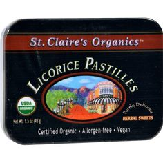 St Claire's Organic Licorice Sweets Display Case - Case Of 6 - 1.5 Oz