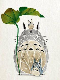 Totoro geometric print