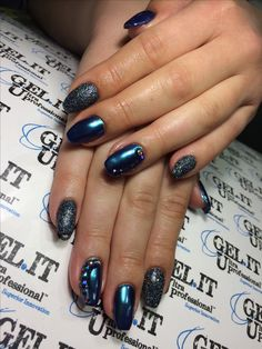 Nails, nail art, nail design, beetle nails, sparkling nails
