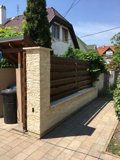Dover House, Travertine, Fence, Garage Doors, Backyard, Landscape, Gate Ideas, Outdoor Decor, Design