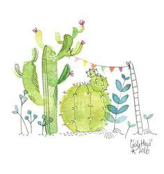 cactus fête, Cécile Hudrisier