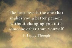 If you want to find true love, be yourself
