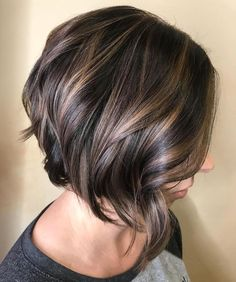 Chocolate Bob with Layers and Subtle Highlights
