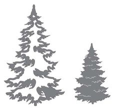 Couture Creations - Merry Little Christmas Collection - Intracutz Dies - Christmas Fir Trees