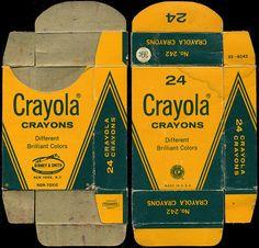 1970s 24-Count, 39-cent Crayola Crayon box