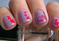 SENIOR MOMENT 4 WOMEN: KISS VALENTINE NAIL ART!- TRY PURPLE VALENTINE NAIL ART!