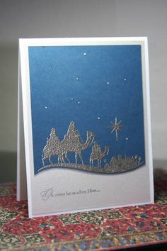 Magi in Blue and Silver by CAKath - Cards and Paper Crafts at Splitcoaststampers