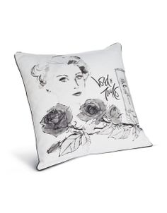 Black, White and Silver by LORD & TAYLOR | Vintage Illustration Cushion | Hudson's Bay