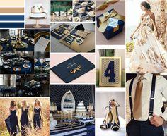 On décline le bleu Navy pour ce mariage chic et on l'allie avec l'or. Mariage de couleur parfait ! Allie, Wedding Event Planner, Parfait, Photo Wall, Frame, Inspiration, Design, Wedding Planner, Beautiful Moments