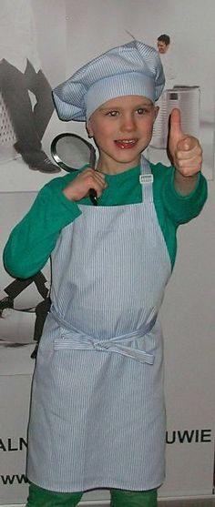 Fartuszek i czapka kucharska dla dzieci - komplet. http://kitle.pl/odziez-dla-gastronomii-dla-kucharzy-gastronomiczna/fartuszki-czapki-kucharskie-dla-dzieci/fartuszek-czapka-kucharska-dla-dzieci.html